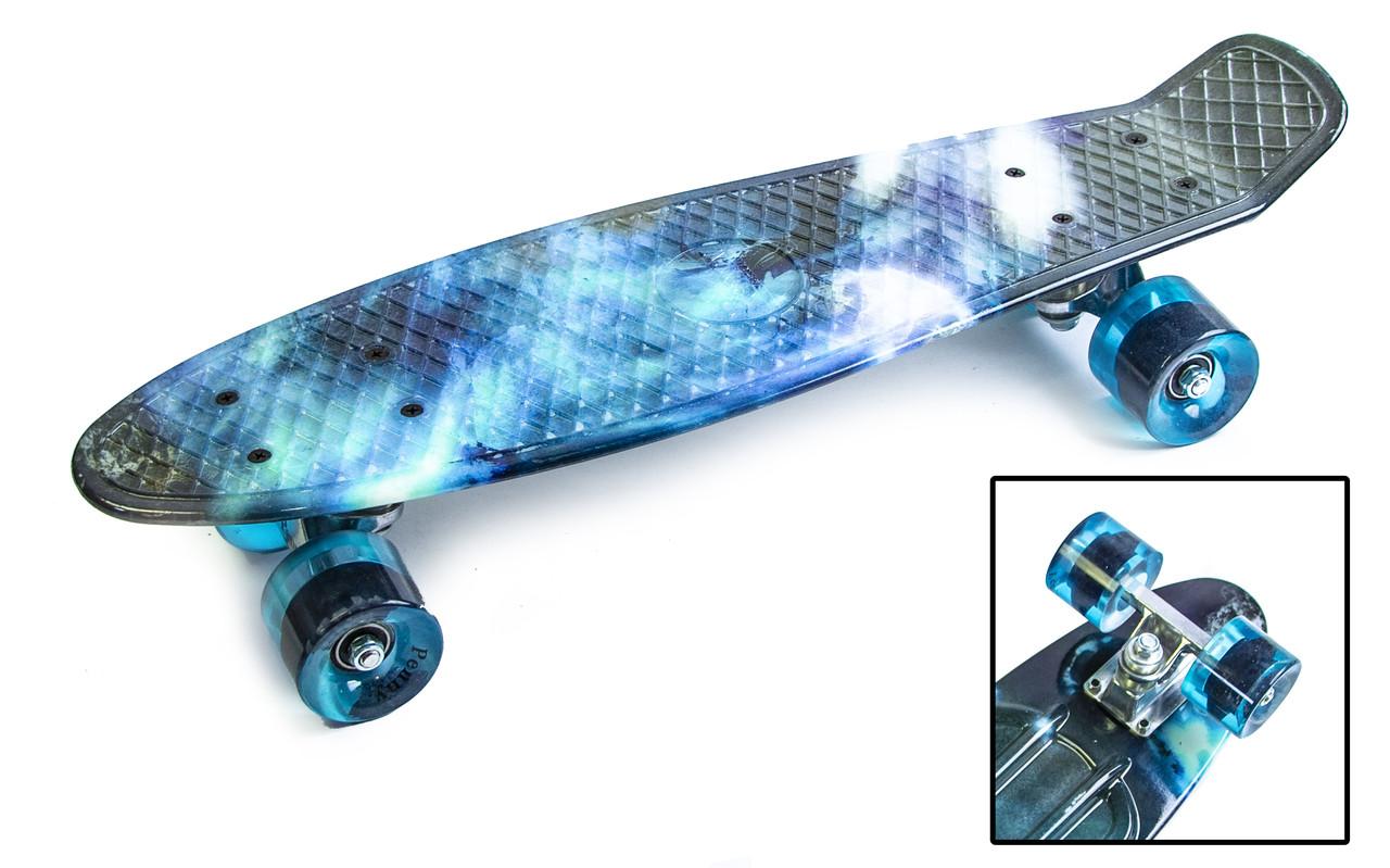 """Penny Board """"Галактика"""" з поліуретановими колесами"""