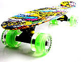"Penny Board ""Fish"" Joker. Светящиеся колеса., фото 3"