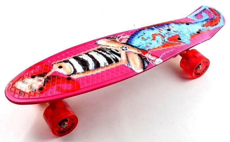 """Penny Board """"Little Mermaid"""" Светящиеся колеса."""