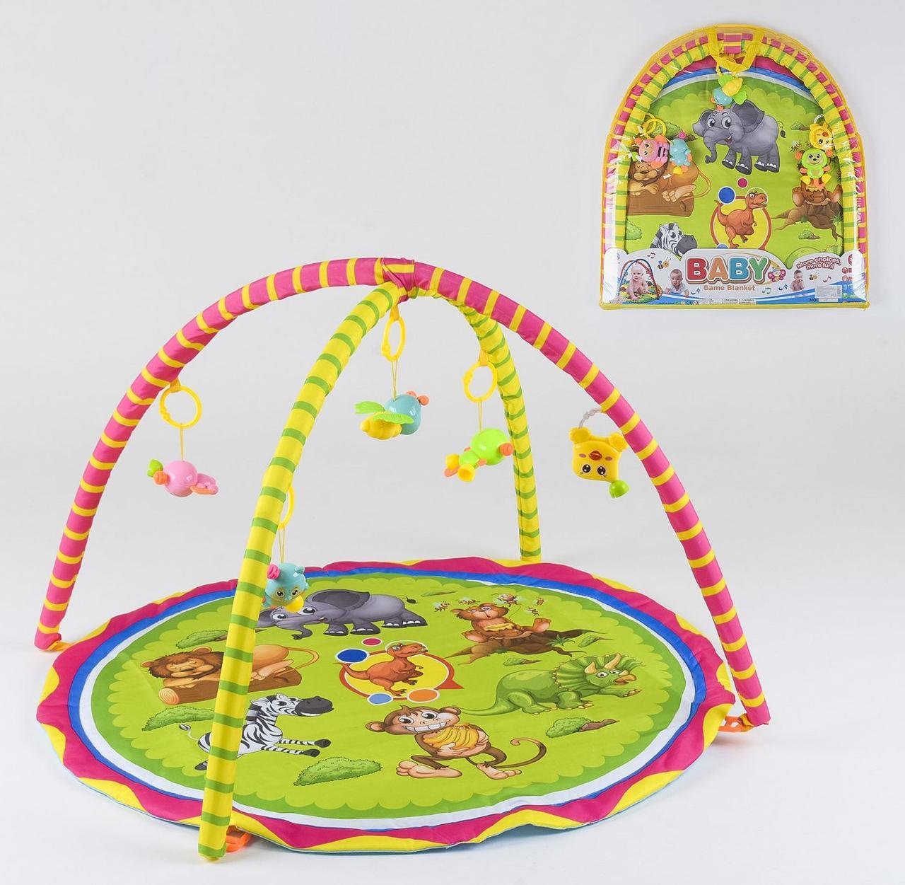 Коврик для младенцев с Подвесными Погремушками