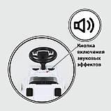 Машина-толокар батьківська ручка, Руське Озвучування ,знімний захисний бампер, багажник, фото 2