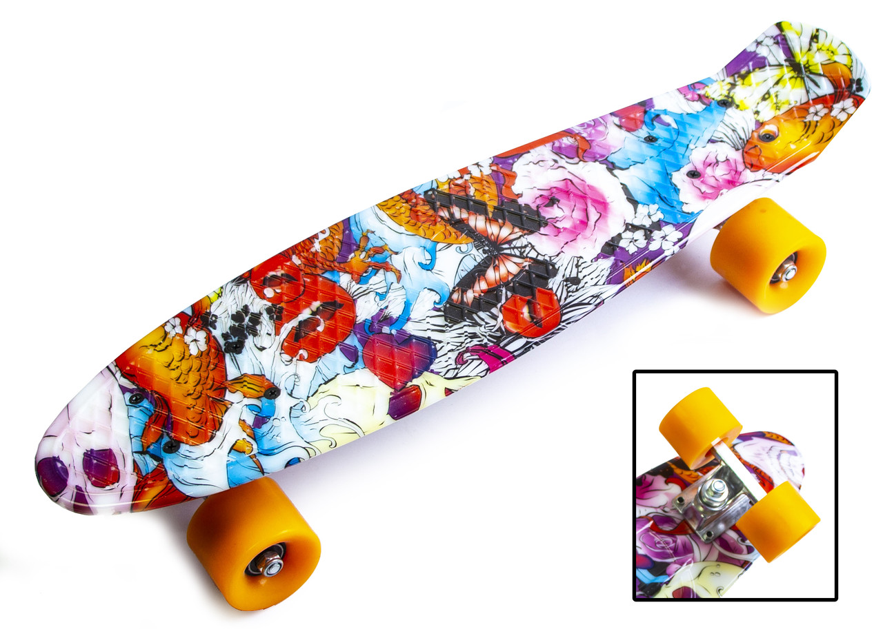 "Penny Board ""Fish and sword"""