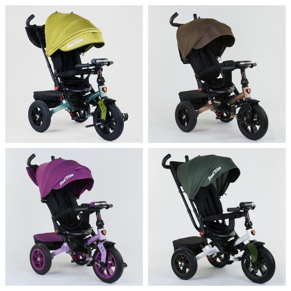 Велосипед 3-х колісний. 9500 Best Trike, Поворотне сидіння, Складаний кермо, Рос.озвучка, Пульт, Світло,Звук