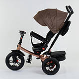 Велосипед 3-х колісний. 9500 Best Trike, Поворотне сидіння, Складаний кермо, Рос.озвучка, Пульт, Світло,Звук, фото 2