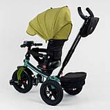 Велосипед 3-х колісний. 9500 Best Trike, Поворотне сидіння, Складаний кермо, Рос.озвучка, Пульт, Світло,Звук, фото 3