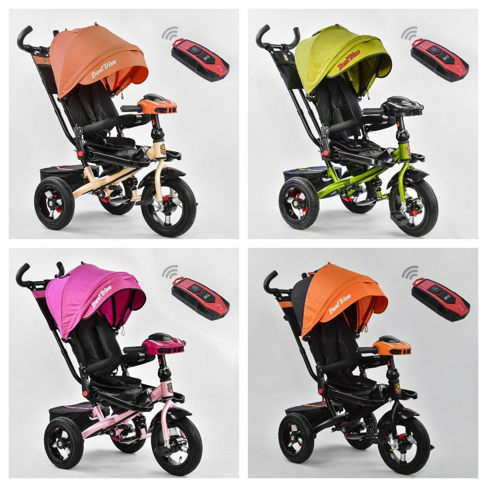Велосипед 3-х колісний. 6088 Best Trike, Поворотне сидіння, Складаний кермо, Рос.озвучка, Пульт, Світло, Звук