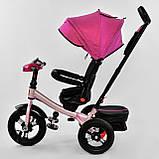 Велосипед 3-х колісний. 6088 Best Trike, Поворотне сидіння, Складаний кермо, Рос.озвучка, Пульт, Світло, Звук, фото 5