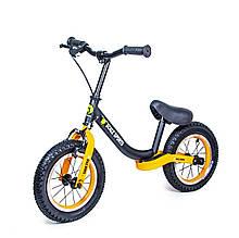 Велобег Scale Sports с тормозом, деткам от 2 лет. Черно-Оранжевый