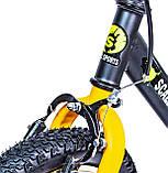 Велобег Scale Sports с тормозом, деткам от 2 лет. Черно-Оранжевый, фото 3