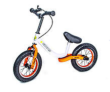 Велобег Scale Sports с тормозом, деткам от 2 лет. Бело-Оранжевый