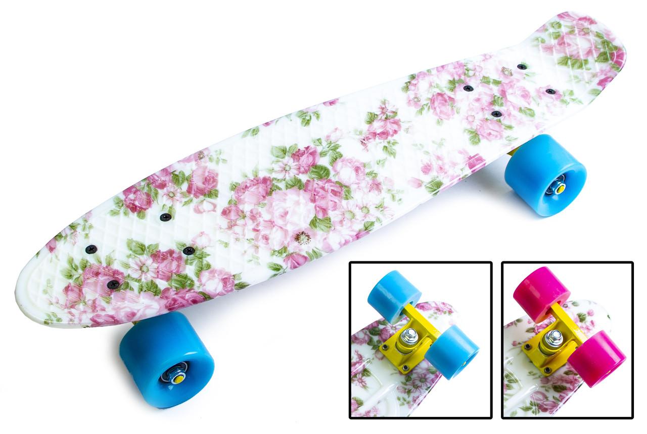 """Penny Board """"Flowers""""."""