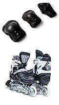Ролики с защитой Scale Sports чёрные, размеры 29-33, 38-41