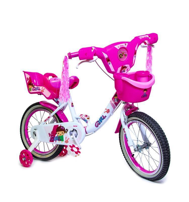 """Детский велосипед Disney Girls 16"""", с музыкой и подсветкой, белый"""