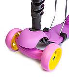 Самокат-беговел Scooter Smart 3 в 1. Ліловий. Світяться Колеса, фото 3