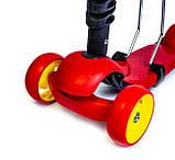 Самокат-беговел Scooter Smart 3 в 1. Червоний. Світяться Колеса, фото 3