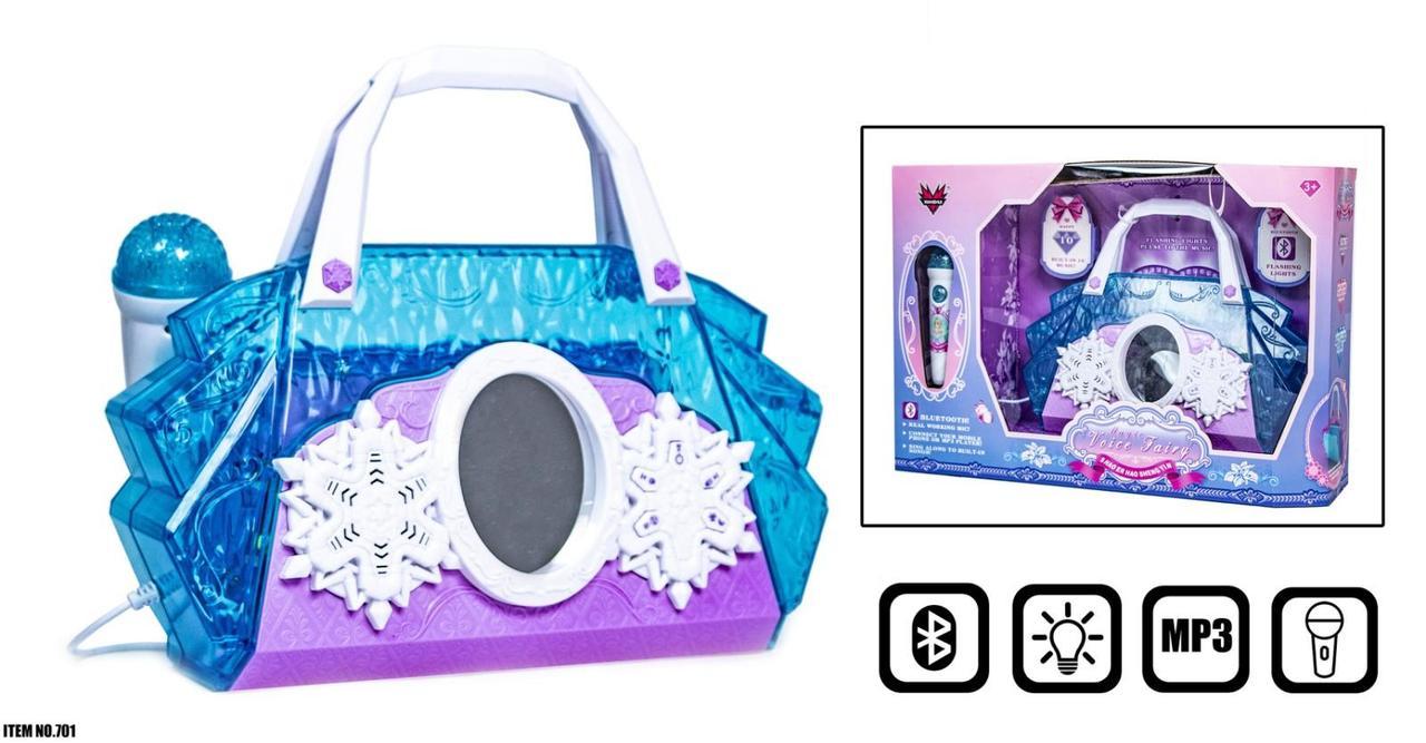 Детская сумочка с микрофоном, с музыкой, MP3 и подсветкой