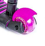 Самокат Scooter Пчелка 5 в 1. Розовый. С музыкой и подсветкой, фото 3