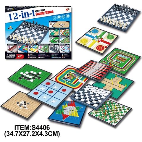 Набір настільних ігор 12-в-1 з шахами