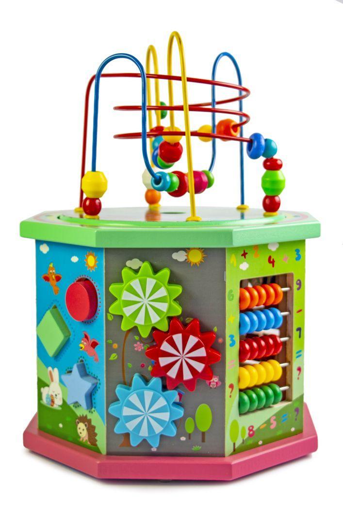 Дерев'яна розвиваюча іграшка-сортер 10 в 1, з лабіринтом пальчиковым