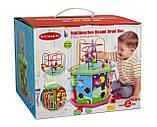 Дерев'яна розвиваюча іграшка-сортер 10 в 1, з лабіринтом пальчиковым, фото 6