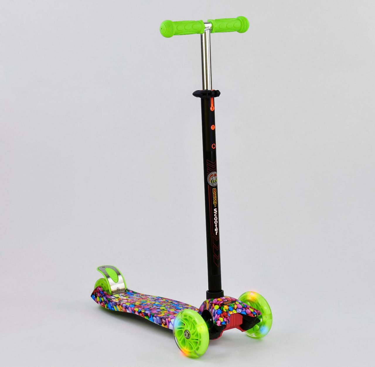 Детский самокат MAXI Best Scooter. Карамелька . Светящиеся колеса!