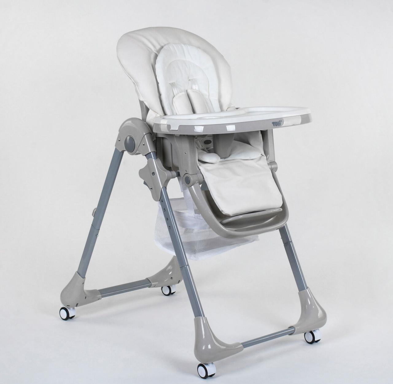 Стульчик для кормления Toti CB-4018, мягкий вкладыш, 4 колеса, съемный столик