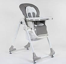 Стульчик для кормления Toti W - 55800, мягкий вкладыш, 4 колеса, съемный столик