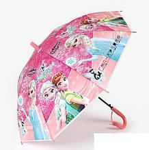 Детский зонтик-трость со свистком Принцессы Frozen Холодное сердце