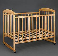 """Кроватка деревянная светлая """"Наталка"""""""