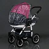 Коляска для детей Saturn № 0186-L21 Серый с розовым,, фото 7