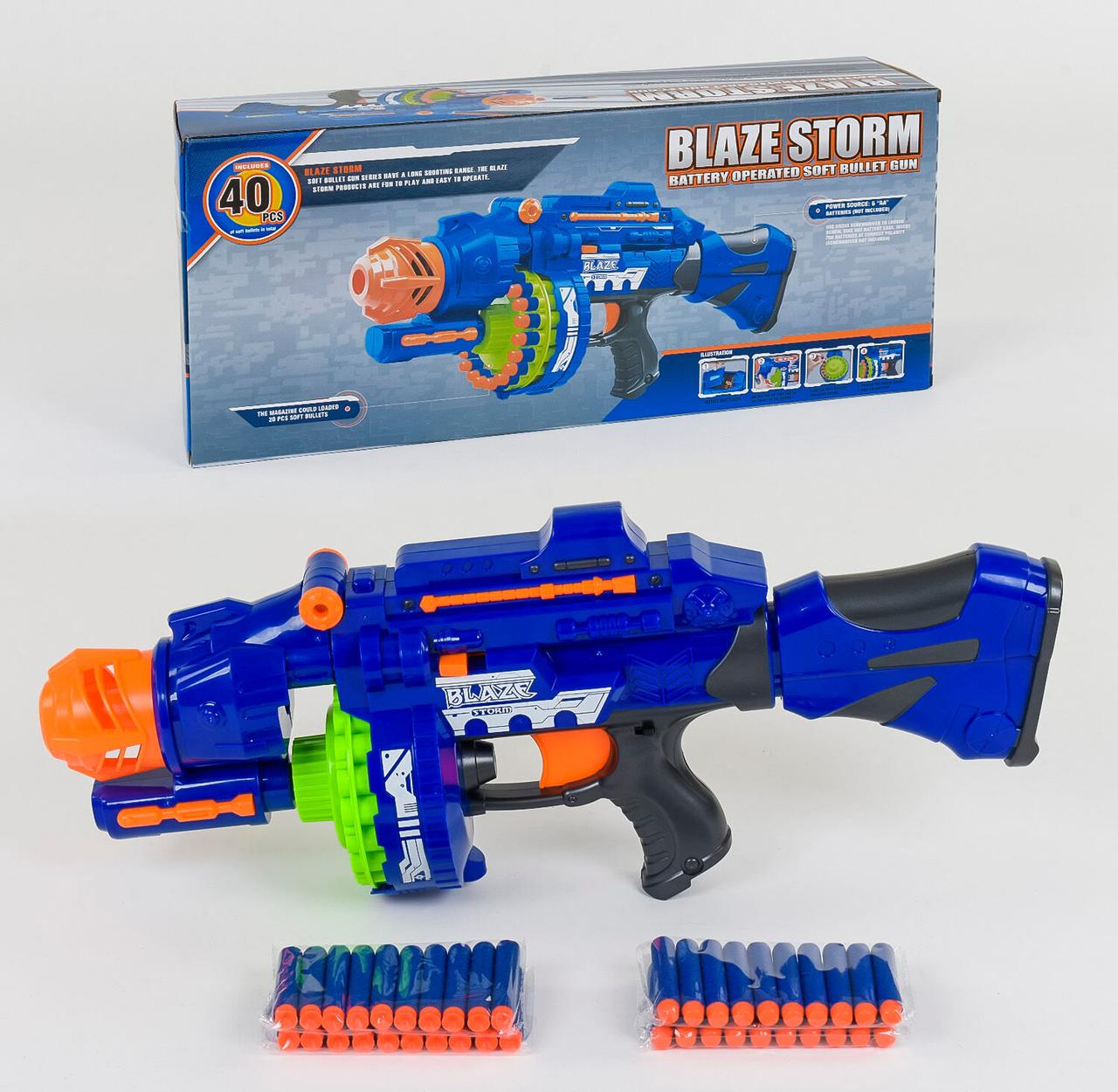 Автомат Blaze Storm 7051 с мягкими пулями, на батарейках