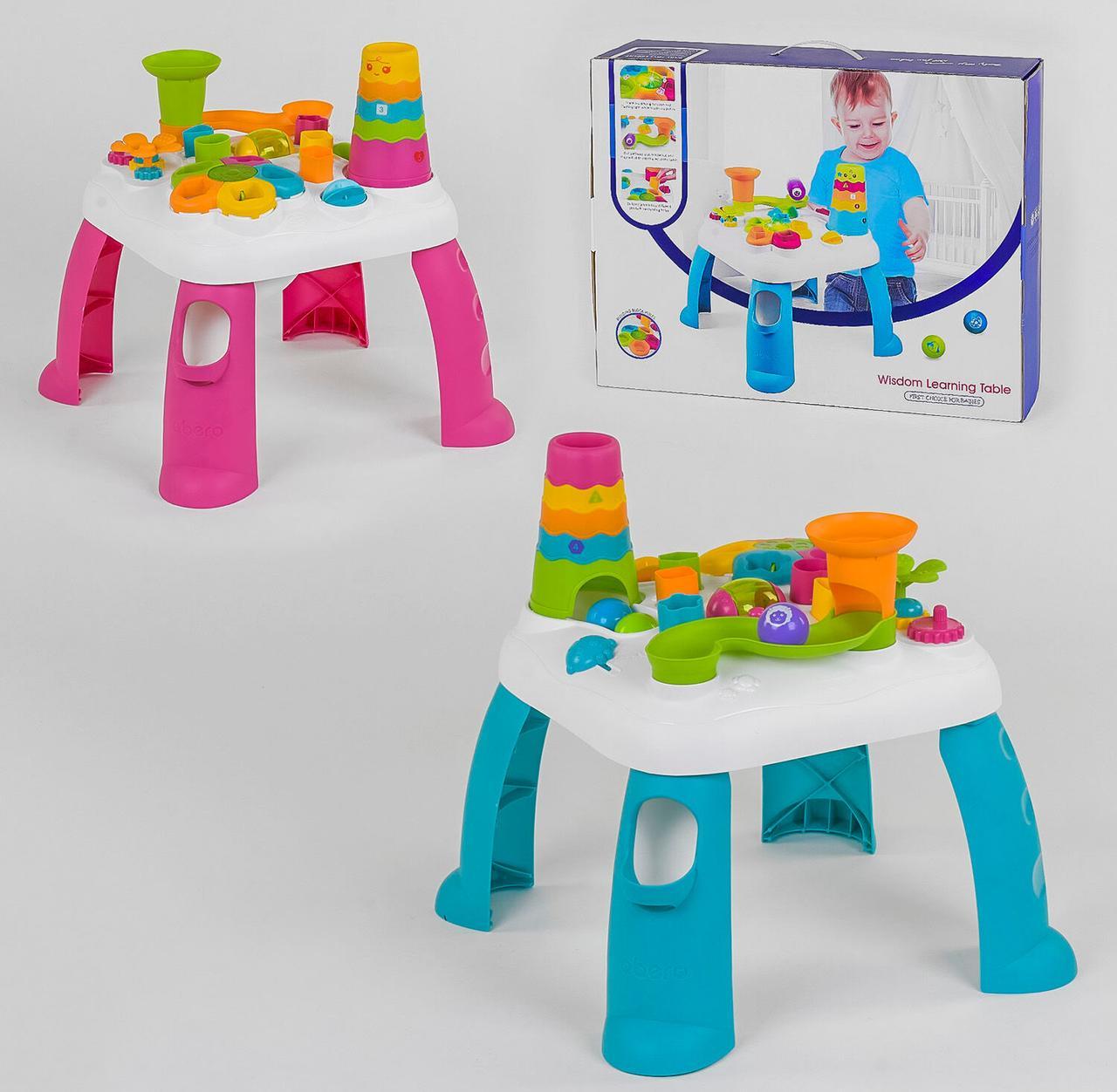 Столик развивающий логический QX 91161 E 2 цвета, свет, звук