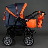 Коляска для дітей Viki / 86 - C 16 Сірий з оранжевим, фото 3