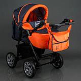 Коляска для дітей Viki / 86 - C 16 Сірий з оранжевим, фото 7