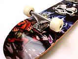 """Скейт дерев'яний """"Вогненний череп"""" навантаження до 80 кг, фото 3"""