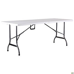 Стол складной AMF Крайслер 180х75х74 см пластик белый ножки-металл