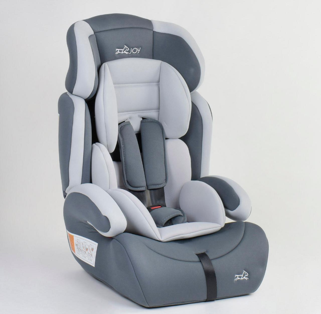 Детское автокресло JOY 59646 универсальное, группа 1/2/3, вес ребенка от 9-36 кг