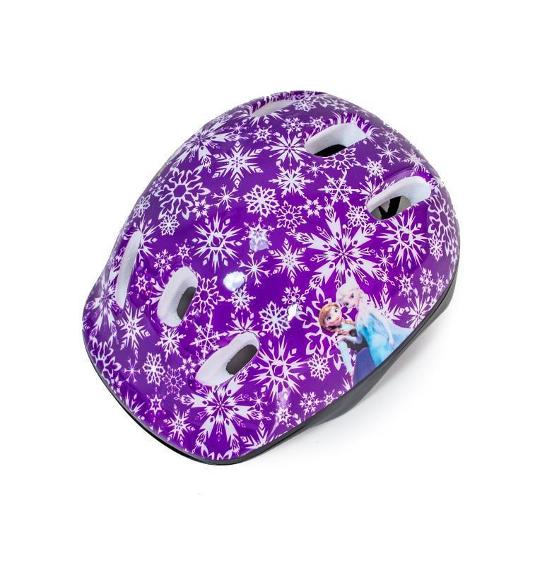 """Шлем детский фиолетовый """"Принцессы Frozen - снежинки"""""""