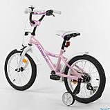 """Велосипед 16"""" дюймов 2-х колёсный """"CORSO"""" S-60882 (1) РОЗОВЫЙ, ручной тормоз, звоночек, доп. колеса, фото 3"""