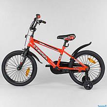 """Велосипед 18"""" дюймов 2-х колёсный """"CORSO"""" ST - 2077 (1) КРАСНЫЙ, СТАЛЬНАЯ РАМА, СТАЛЬНЫЕ ПРОТИВОУДАРНЫЕ ДИСКИ"""