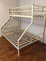 Двухъярусная трехспальная металлическая кровать Дакар