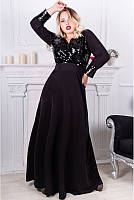 Вечернее женское платье в пол расшитое пайетками с 50 по 60 размер