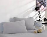 Простынь трикотажная на резинке спальное место  160 x 200 см с 2 наволочками 50*70 см Цвет Серый, фото 2