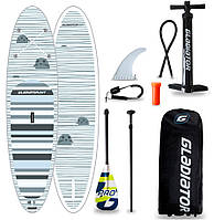 "Сапборд Gladiator ART 10'6"" x 32"" SEAL - надувная доска для САП серфинга, sup board"