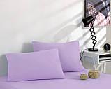 Простирадло трикотажна на резинці спальне місце 180 x 200 см, 2 наволочки 50*70 см Колір Бузковий, фото 2