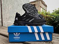 Мужские спортивные кроссовки Adidas Marathon (36-46 размеры) черные