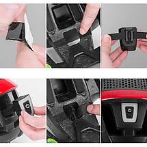 Фонарь велосипедный габаритный T11-15LED, встроенный аккумулятор, влагозащита IPx5, фото 3
