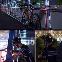 Фонарь велосипедный габаритный T11-15LED, встроенный аккумулятор, влагозащита IPx5, фото 2