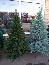 Новогодняя искусственная литая ель 2,3 метра Буковельская зеленая, фото 2