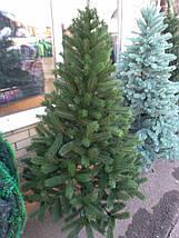 Новогодняя искусственная литая ель 2,3 метра Буковельская зеленая, фото 3